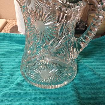 Cut Glass Pitcher or Milk Jug (I think) - Glassware