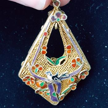 Chinese filigree pendant - Fine Jewelry