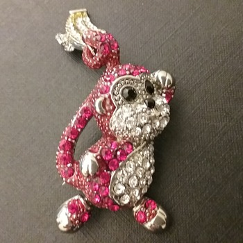 Butler & Wilson monkey brooch  - Animals