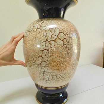 """Huge 1930's(?) Czech Floor vase - Marked """"TM"""" - Pottery"""