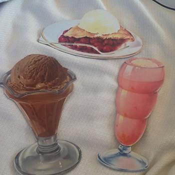 Restaurant/ice cream parlour cardboard cutouts Litho in USA