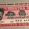 frank sinatra 1943 new years eve theatre ticket stub  higher and higher