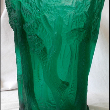 BAROLAC  Forest Vase   - Art Glass