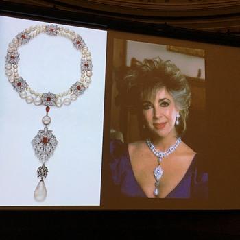 La Peregrina pearl with Elizabeth Taylor/Burton
