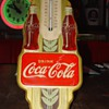 1942 Original Coca-Cola Double Bottle Gold Thermometer