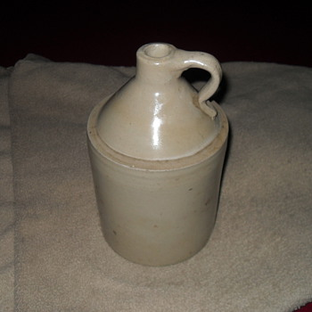 Vintage white whiskey jug - Bottles