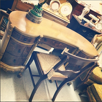 desk from an antique store. I have no clue on the age