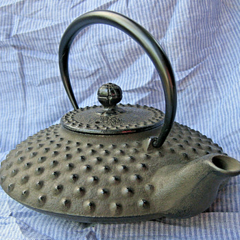 Japanese cast iron tetsu kyusu (teapot) - Asian