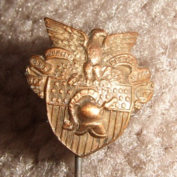 USMA, West Point crest stick pin pre- 1923 - Military and Wartime