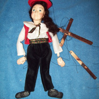 Unknown Antique Pinocchio Help ID - Toys