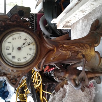My recent find, a New Haven cherub clock - Clocks