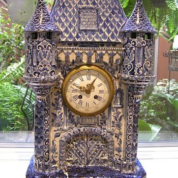 Delft Mantle Clock - Pottery