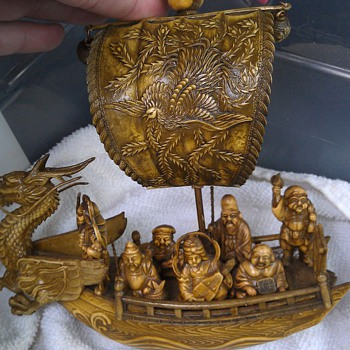 *****VINTAGE ANTIQUE wooden asian ships NEED HELP***** - Asian