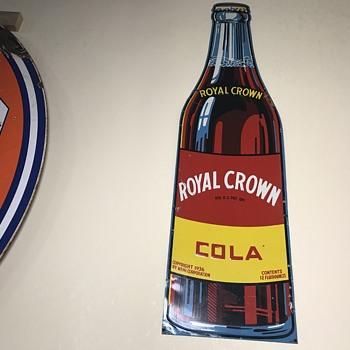 Royal Crown cola bottle 3ft sign  - Signs