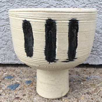 Modernist Stoneware Stem Bowl