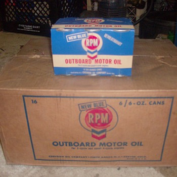Two Full Cases of RPM Outboard Oil 1963