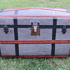 "1870's  32"" Pure Zinc Turtle Top - barrel stave Trunk"