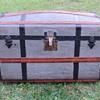 "1870's  32"" Pure Zinc Turtle Top - barrel stave Trunk"