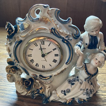 Genuine porcelain clock from Japan.  - Clocks