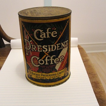 Coffee Tin  Cafe President