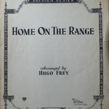 """Home On The Range"" Sheet Music - Paper"