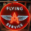 Flying A Service neon sign