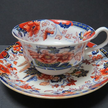 Minton Cup and Saucer - Amherst Japan Pattern - No. 824 - China and Dinnerware