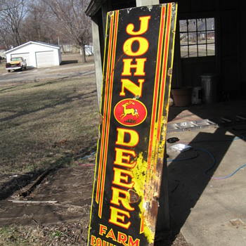 my old john deere sign. - Signs