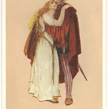 Shakespearean Images on Postcards by Marjorie C. Bates - Postcards