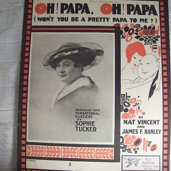 Sophie Tucker, knew her way around a song! - Music Memorabilia