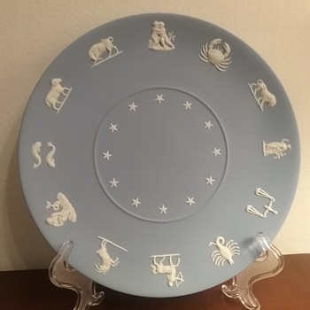 Wedgwood jasperware zodiac plate, by request  - China and Dinnerware