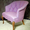 Lavender and plum chair