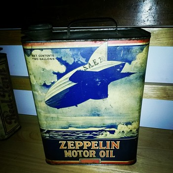 Zeppelin Motor Oil Can pennsylvaniapickers - Petroliana