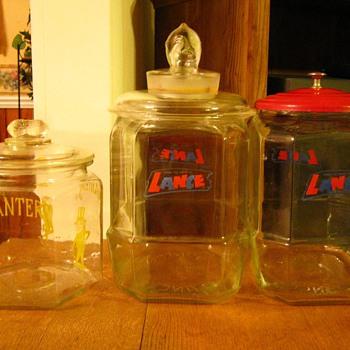Planter's Peanut & Lance Peanut Glass Jars - Kitchen