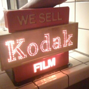 Kodak Sign with Lights - Signs