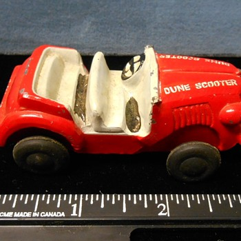 "Jeep ""Dune Scooter"" slush-mold from 50s~Anyone know the maker?"