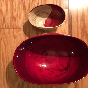 Murano Folded Glass Bowls (large & small) - Art Glass