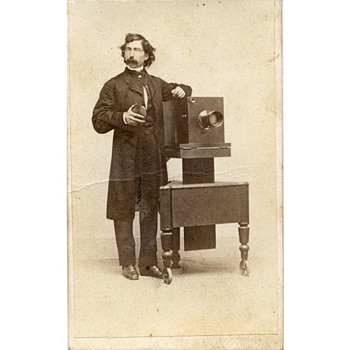 Photographers & Their Cameras - c.1862 CDV Tradecard