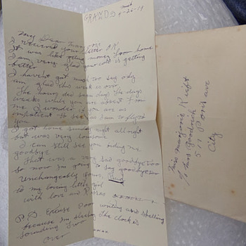 Letter 1 of 5 from 1919 - Paper