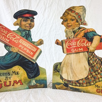 Coca-Cola and Pepsin Gum Dutch Boy and Girl