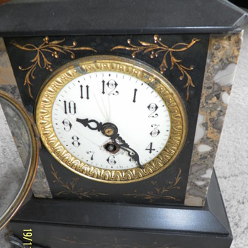1890 - 1900 French Slate Mantle Clock