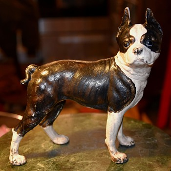 Very Heavy Cast Iron Boston Terrier - Animals