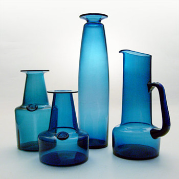 CAPRI vases and jug, Jacob E. Bang (Kastrup, 1961) - Art Glass