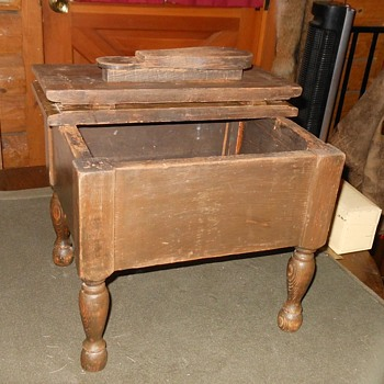 Vintage Shoe Shine Footstool - Furniture