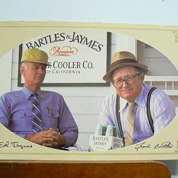 Bartles & Jaymes cardboard sign - Signs
