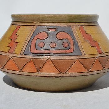 Southwestern style studio pottery bowl - Pottery