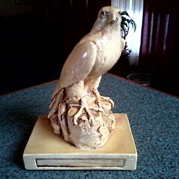 Majestic Falcon Sculpture /Plaster Cast/ Marked E & D SIM Circa 1982 - Fine Art