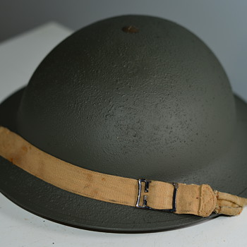 WWII Restored Canadian Military Helmet