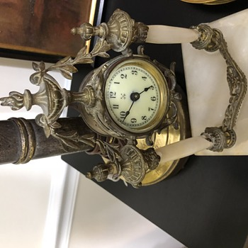 Ornate Clock set in bronze and stone? - Clocks