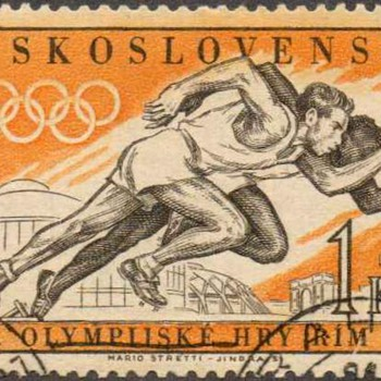 "1960 - Czechoslovakia ""Olympic Games"" Postage Stamps - Stamps"